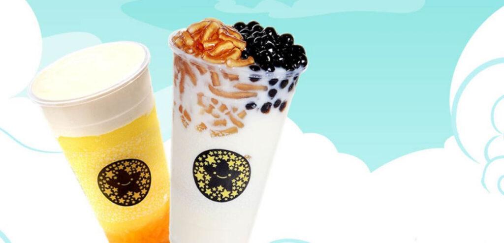 Đúng với tên gọi của nó, ly trà sữa được chia ra thành 2 màu Đen và trắng vô cùng bắt mắt