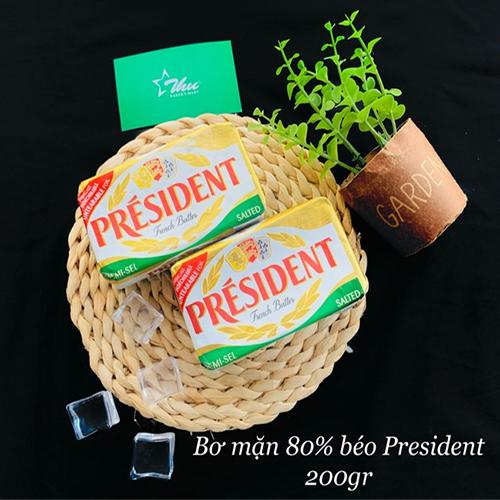 Bơ mặn 80% béo President 200g