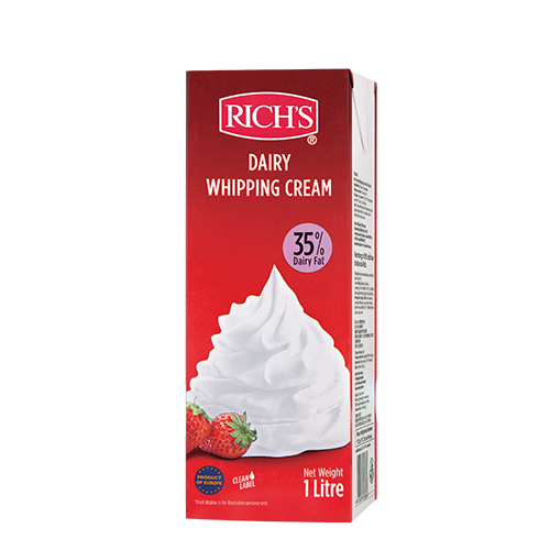 Kem Rich's Dairy Whipping Cream 35% Dairy Fat 1L